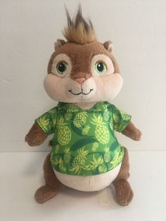"""Build A Bear Theodore 9"""" Plush Doll Alvin and The Chipmunks Chipwrecked 2011 