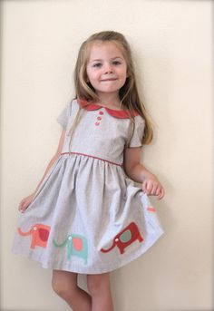 GIRLS Dress PATTERN The Vintage Kate Dress by TheFreckledPear