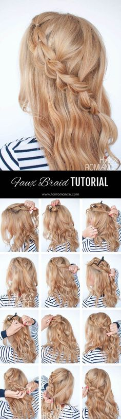 The no-braid braid – 5 pull-through braid tutorials (Hair Romance)   Check out my original pull-through braid tutorial for this diagonal bra...