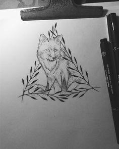 Fox ◇ #foxsketch #foxtattoo #dotsandlines #dotwork #blackwork #onlyblackart #jessabreu #pointilism