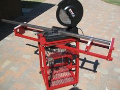 Chop Saw Mobile Workstation - WeldingWeb™ - Welding forum for pros and enthusiasts Welding Bench, Welding Cart, Welding Shop, Welding Jobs, Metal Welding, Diy Welding, Metal Projects, Welding Projects, Homemade Tools