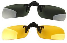 ce71fbda479 Wonderfulsight 2 Piece Day Night Vision Polarized Clip-on Flip-up Sunglasses  Necessary for