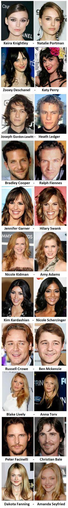 Celebrity doppelgangers. | GBCN