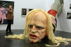 Giant head of Klaus Kinski