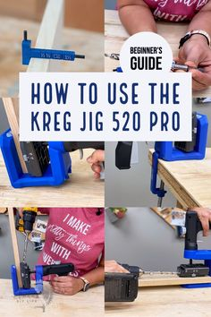 Learn everything you need to know about the Kreg Jig 520 PRO – it's features, how to use and how it compares to the other Kreg Jigs. #KregJig #woodworkingtools #AnikasDIYLife Kreg Jig Projects, Scrap Wood Projects, Diy Furniture Projects, Wood Projects For Beginners, Wood Working For Beginners, Easy Diy Projects, Project Ideas, Woodworking Projects That Sell, Beginner Woodworking Projects
