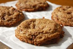 Flourless Maple Almond Butter Chocolate Chunk Cookies
