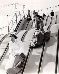 Life rule # 343:  Never miss the chance to ride a big slide.                 1968 Long Beach CA