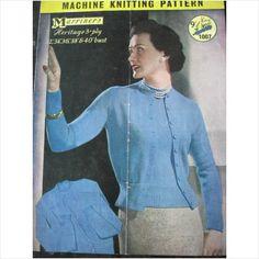 "Vintage Marriner's machine knitting pattern 1007 ladies twin set bust 32"" - 40"" on eBid United Kingdom"