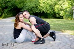 Joyce & Chris's Engagement Session in the park! Fitness Couple - David Eric Photography - New Jersey Wedding & Engagement Photography