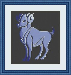 Check out this item in my Etsy shop https://www.etsy.com/listing/549333192/aries-cross-stitch-pattern-aries-zodiac