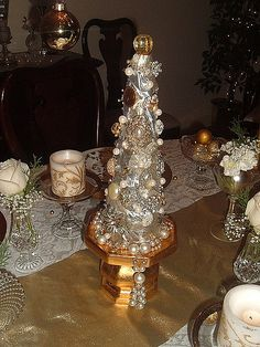 Christmas tree made of costume jewelry