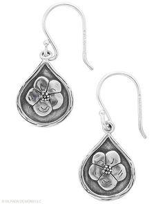 Silpada flower Sterling Silver Earrings.