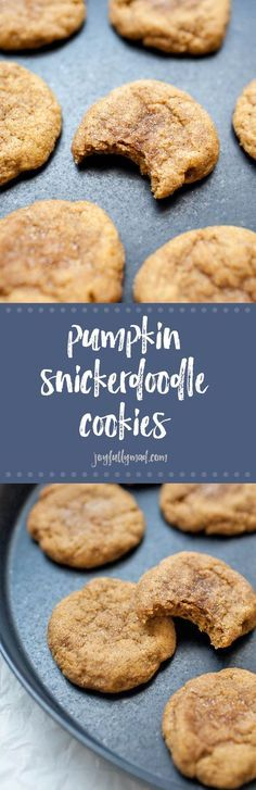 Pumpkin snickerdoodle cookies are the ultimate fall indulgence! These sweet little treats are filled with fall flavors and super easy to make. You'll definitely want to make a few batches of these cookies this fall! | pumpkin cookies | fall cookies | pump