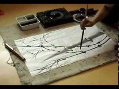 김선일한국화화실 대나무 그리기 수업