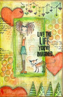 #papercraft #artjournaling Live the life you've imagined! Inge Kolstee: Art Journal