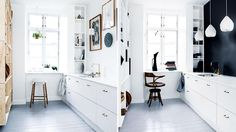 one small kitchen, two chic and stylish looks