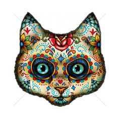 cat dia de los muertos - Google Search