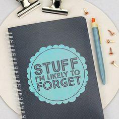 Better write it down...