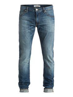 """Zeppelin Medium Blue 32"""" - Quiksilver Skinny-Fit Jeans für Männer Zeppelin Medium Blue 32"""" Skinny-Fit Jeans von Quiksilver. Die Eigenschaften dieses Produkts sind: 5 Pocket-Design, Hosenöffnung mit Reißverschluss und Stretch Baumwollgewebe. Dieses Produkt besteht aus: 98% Baumwolle 2% Elastan. Merkmale: Skinny-Fit Jeans, 5 Pocket-Design, Hosenöffnung mit Reißverschluss, Stretch Baumwollgeweb..."""