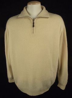 MANRICO 100% Cashmere Sweater Size 44 M Extra Thick Heavy Knit ...