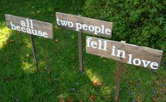 All Because Two People Fell in Love Rustic by PeaceLoveDriftwood, $55.00