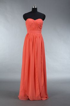 Hey, I found this really awesome Etsy listing at https://www.etsy.com/listing/179008973/long-coral-bridesmaid-dress-coral