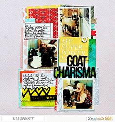 """""""Goat Charisma"""", created by Jill Sprott using the Scraptastic Club """"Counting Stars"""" kit"""
