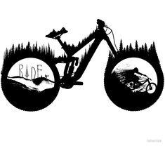 Ideas for tattoo mountain bike mtb cycling - - Bicycle Tattoo, Bike Tattoos, Cool Tattoos, Cycling Tattoo, Tatoos, Downhill Bike, Mtb Bike, Cycling Bikes, Bmx Bikes
