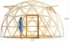 Specially designed Geodesic Dome Greenhouse kit for easy DIY installation Geodesic Dome Greenhouse, Geodesic Dome Homes, Greenhouse Plans, Dome Structure, Sustainable Architecture, Residential Architecture, Contemporary Architecture, Dome House, Round House