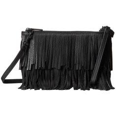 ab328c7e14d75 Hammitt Getty Fringe (Black Black) Cross Body Handbags ( 200) ❤ liked