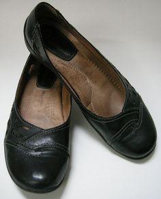 Details about Earth Origins Shoes Black Flats Cut Outs Womens Size 7 1/2 M