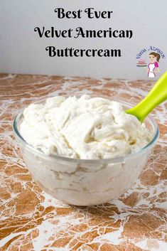 My velvet American buttercream is the most requested recipe from customers as well as here on the blog. It has a glossy sheen due to the unique method I use in making it. This simple, easy and effortless recipe makes a delicious velvety smooth textured buttercream that's not grainy, easy to make in minutes, and melts in the mouth. #American #buttercream #best #frosting #Velvet