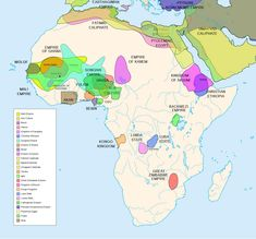 Diachronic map of pre-colonial African kingdoms. Africa History Atlas Diachronic map showing pre-colonial cultures of Africa (spanning roughly 500 BCE to 1500 CE) Ap World History, History Facts, Ancient History, Black History, Ancient Egypt, Ancient Map, African Empires, African History, African Colonization