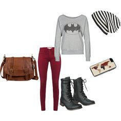 I always add a touch of me to my outfits (example this batman sweatshirt)