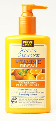 Avalon Organics Refreshing Cleansing Gel Vitamin C. Formula gets rid of oiliness, but it's gentle & doesn't dry out my combination skin. Also love that it's organic, feels luxurious on my face, & makes my skin look brighter.