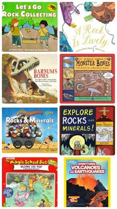 Books & activities that explore geology: rocks, fossils and volcanoes! #stem