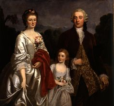 History of fashion in art & photo — ab. 1770 William Hoare of Bath - Family Group