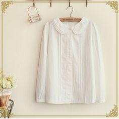 >> Click to Buy << White J-Fashion Kawaii Women Undershirt For Cuties,Retro Sweet Preppy T-Shirt Embroidered Tees Shirt Ladies Wholesale America #Affiliate