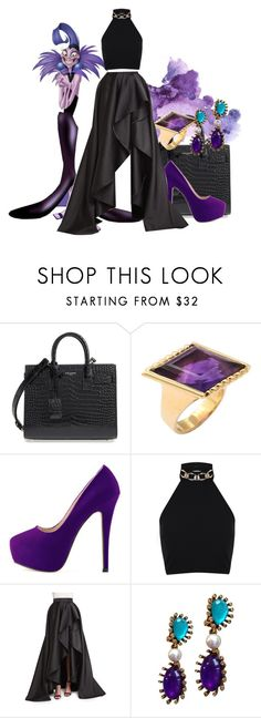 """""""Yzma"""" by meredithwelch ❤ liked on Polyvore featuring Yves Saint Laurent, Miss Selfridge, Monique Lhuillier and Oscar de la Renta"""
