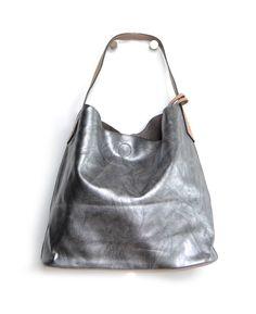 Sac gris métallisé