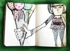 mmmm Ice cream!!  #illustration  #ilustración #design #diseño  #vans #helado #icecream