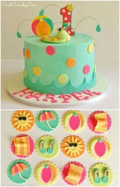 pool party cakes - Buscar con Google