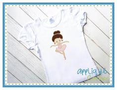Ballet Girl Caylin APPLIQUE - 4x4, 5x7, 6x10 & 7x11