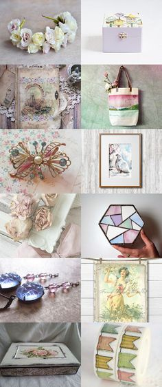 Pastel Perfection by FrenchPaperMoon on Etsy--Pinned+with+TreasuryPin.com