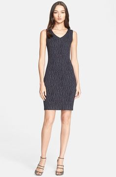 Armani Collezioni Jacquard Knit Sheath Dress available at #Nordstrom
