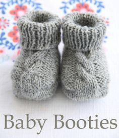 Free knitting pattern Epipa Cable Booties and more baby shoes knitting patterns