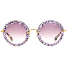 d495689adc Miu Miu Round Sunglasses ( 316) ❤ liked on Polyvore featuring accessories