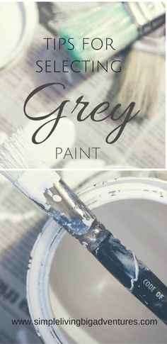 Finding it hard to select the right grey paint - follow the tips I learned when choosing grey paint. Interior Paint Colors, Interior Plants, Interior Trim, Interior And Exterior, Exterior Siding, Exterior Paint, Simple House, Simple Living, Spray Painting Wood Furniture
