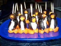 Oeuf pingouin   1 grosse boite d olive noires dénoyautées     quelques carottes