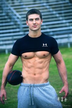 Hot guy and football! I must have died and went to heaven!